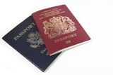 usa and british passport poster