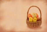 easter basket with retro copy space