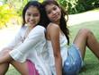 portrait of two lovely thai girls