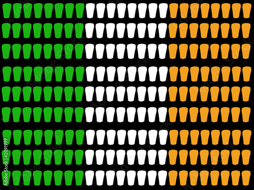 pint glass irish flag