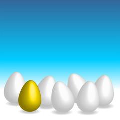 easter eggs. golden egg