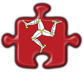 bottone puzzle isla man - isola man button flag