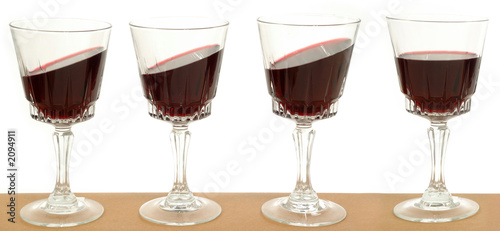 line of wineglasses