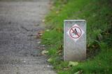 interdiction de faire du vélo poster