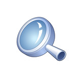 search symbol - detailed icon of magnifying glass poster