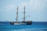 pirate ship in ocean poster