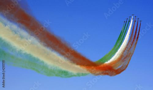 Fotobehang Luchtsport passaggio frecce tricolori