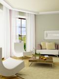 3d render interior poster