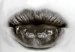 baiser de bouche noire gothique