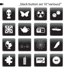 "black button set 10 ""various2"""