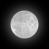 full moon on black sky poster