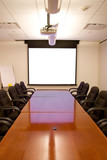 meeting room with screen poster