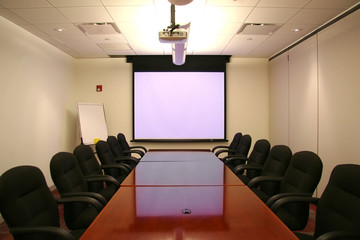 meeting room with screen