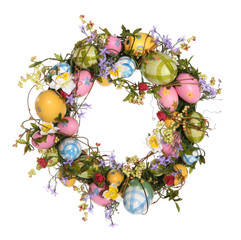 easter egg wreath