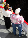 tourists aboard a riverboat poster