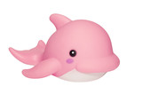 pink whale poster