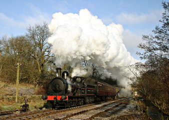 historic steam train