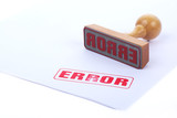 error rubber stamp poster