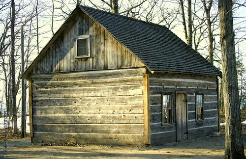 Leinwandbild Motiv old wood building