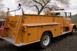 Leinwandbild Motiv orange fire engine