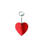 key ring with handmade red heart.gift for him/man poster