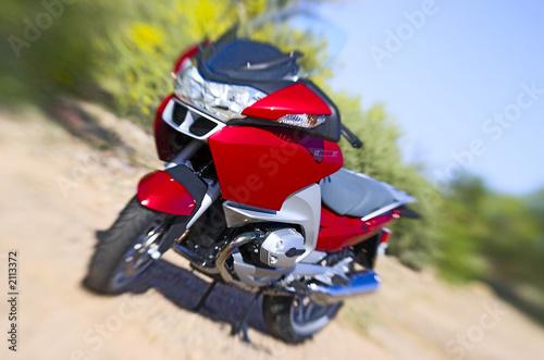 Leinwandbild Motiv red motorcycle