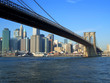 brooklyn bridge and lower manhattan, new york