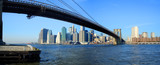 brooklyn bridge and lower manhattan panoramic view, new york-