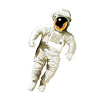 astronaut on white background poster