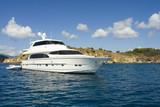 luxury yacht poster