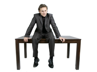 businessman on table