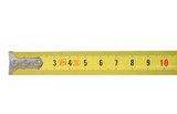 ten centimeters of measuring tape on white poster