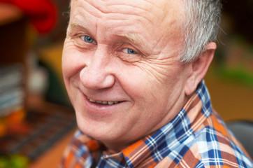 senior man casual portrait.