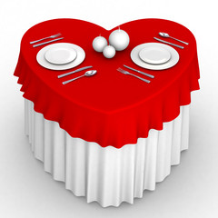 3d heart table