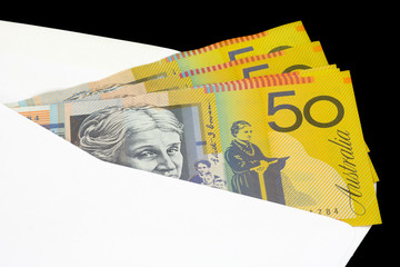 closeup of australian currency