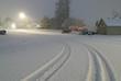 quiet street with snow