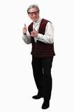 older man gesturing poster