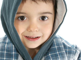 boy with hooded jacket