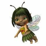 toon baby fairy poster