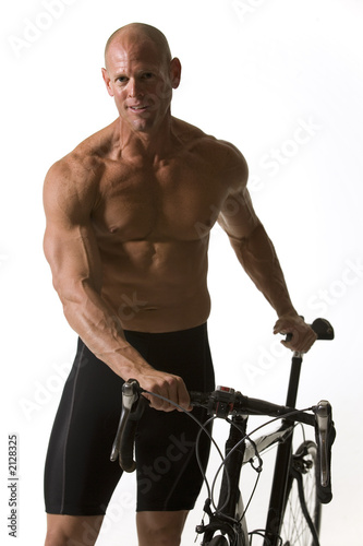 Leinwandbild Motiv cycle man