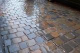 wet pavement pattern poster