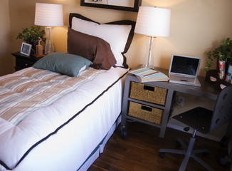 bedroom study area