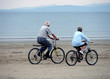 pensioners riding on the beach