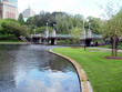 boston public gardens bridge and pond