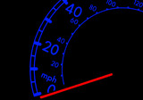 speedometer at night