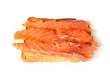 delicious toast with smoked salmon poster