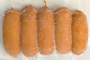 frozen small sausages
