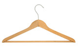 coat hanger - pure white background poster