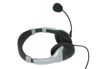 phone headset - pure white background