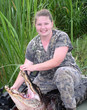 woman hunting american alligators